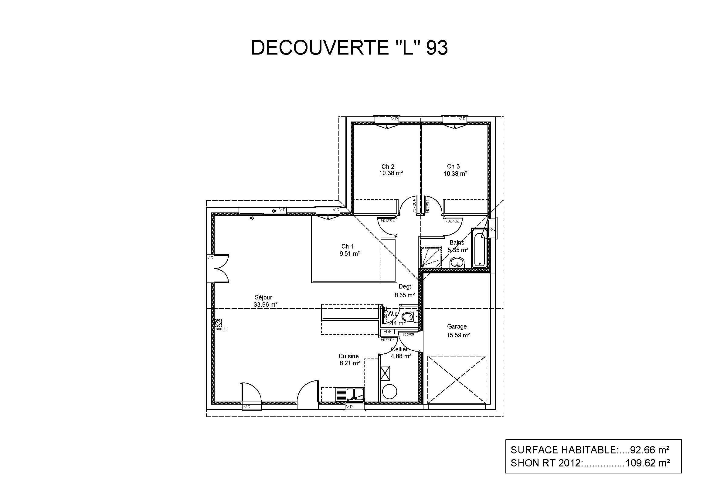 Maisons et terrains maison construire lacanau 33680 for Modele maison geoxia