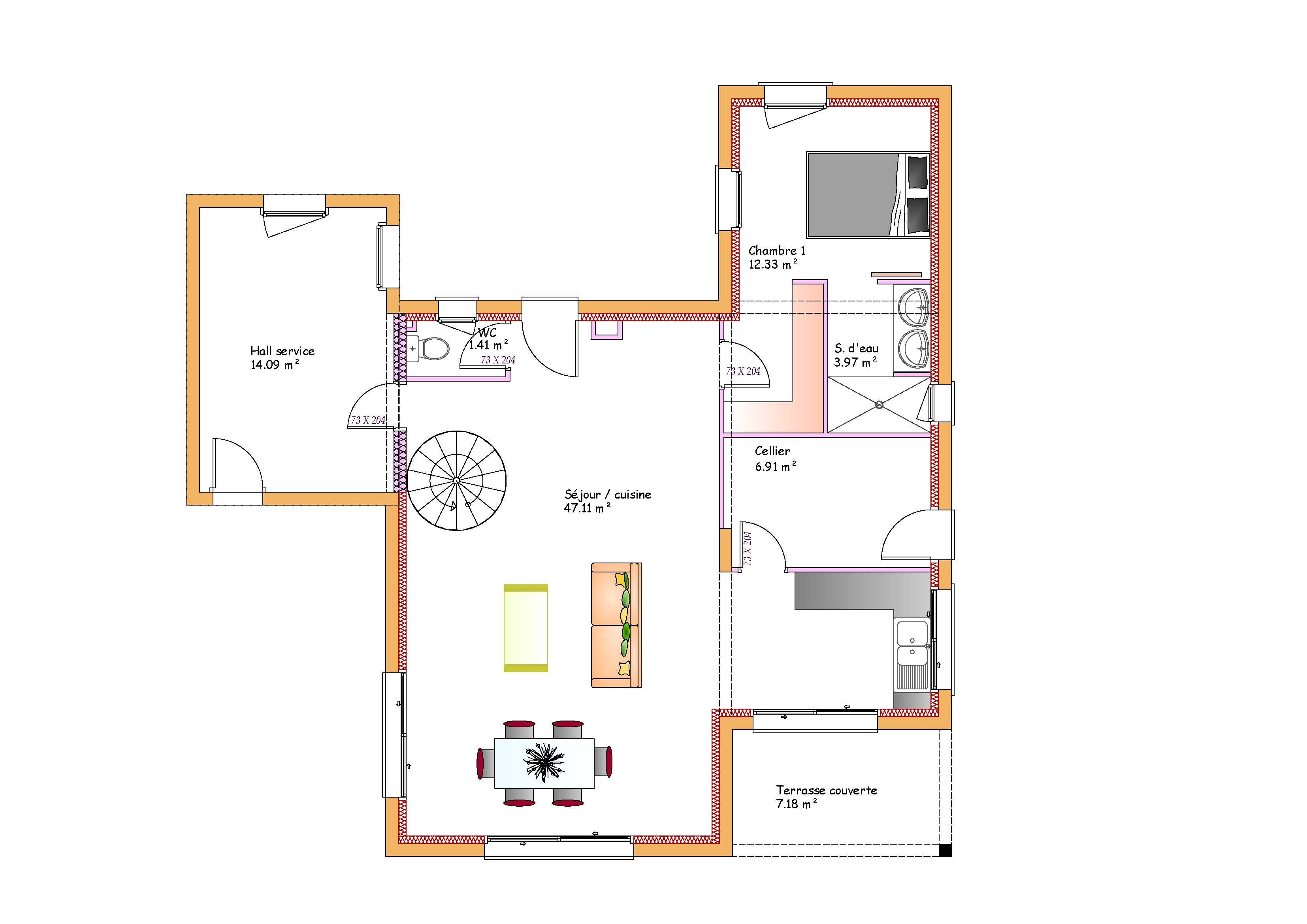 Affordable cool plan maison toit plat with plan maison for Modele maison toit plat