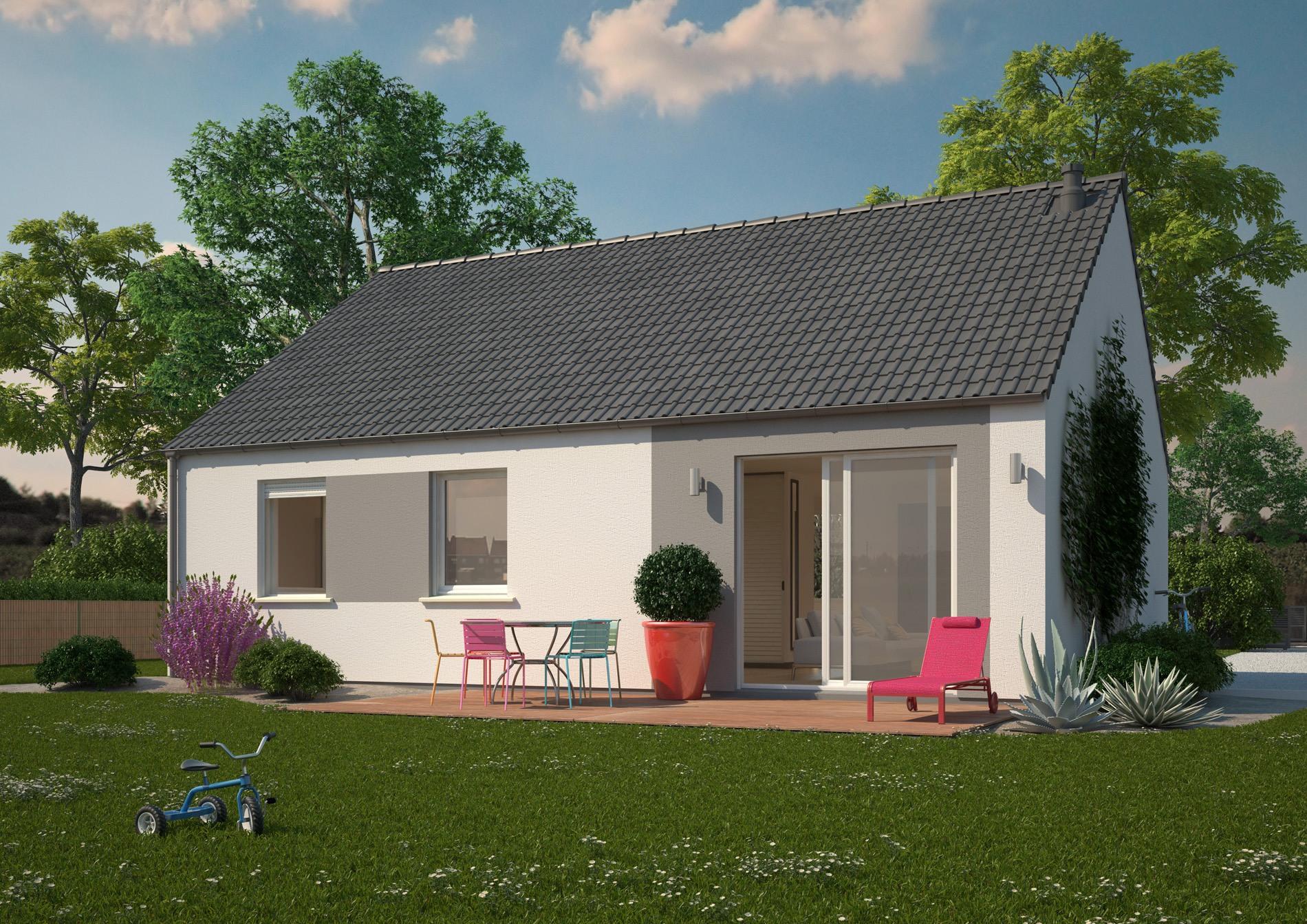 Maison pas cher a construire maison 4 chambres de 100 m for Modele de maison a construire pas cher