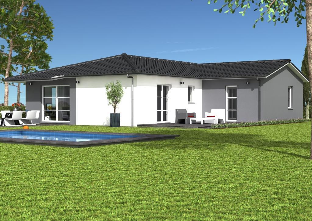 Maisons et terrains constructions demeures c te argent for Maison moderne grise