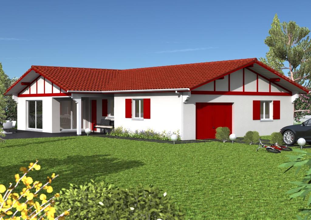 plan maison plain pied toit 2 pans. Black Bedroom Furniture Sets. Home Design Ideas