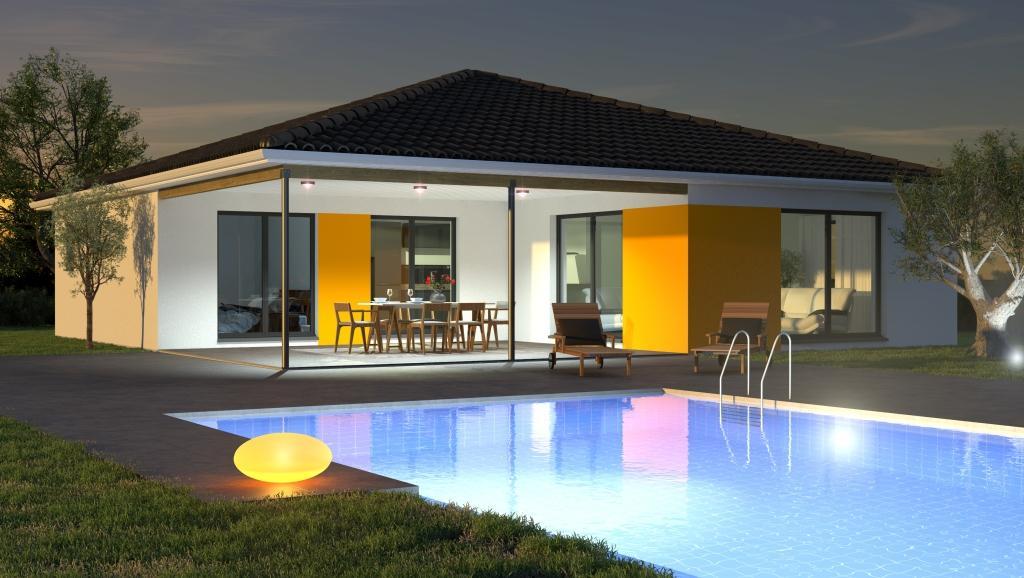 Mod les et plans de maisons mod le de plain pied ligne for Modele maison gironde