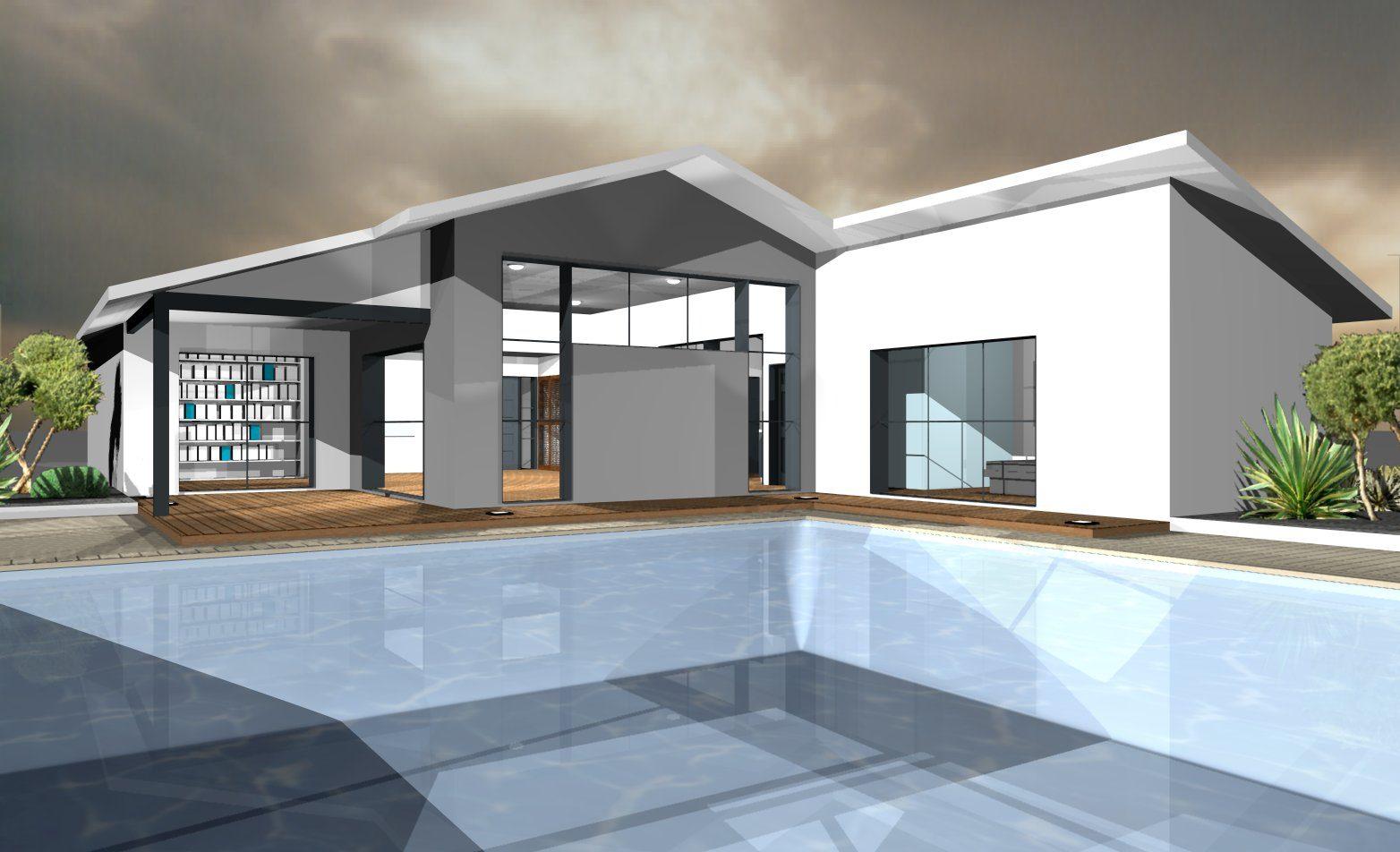 Mod les et plans de maisons mod le de plain pied loft constructions dem - Plan de loft moderne ...