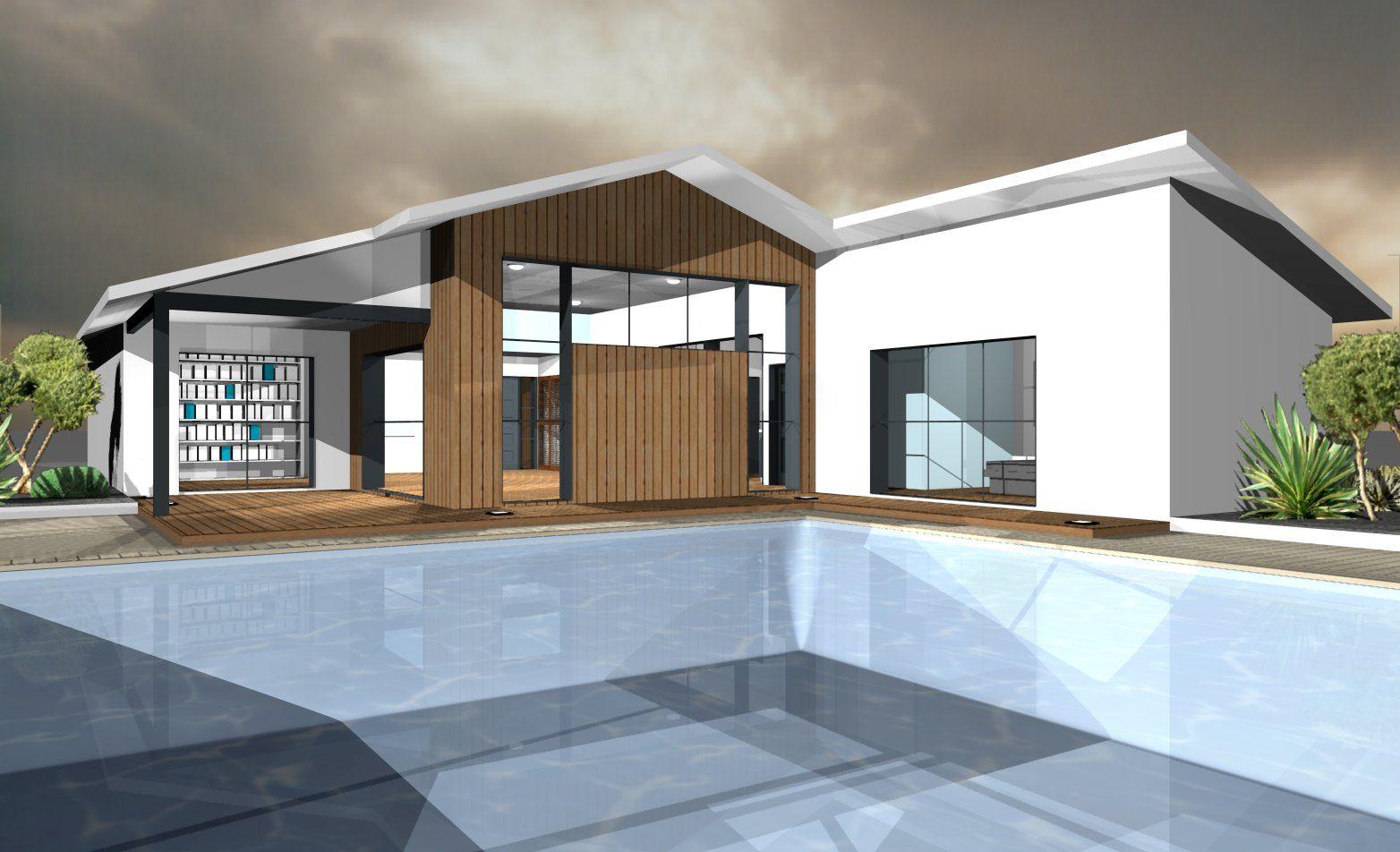 mod les et plans de maisons mod le de plain pied loft constructions demeures c te argent. Black Bedroom Furniture Sets. Home Design Ideas