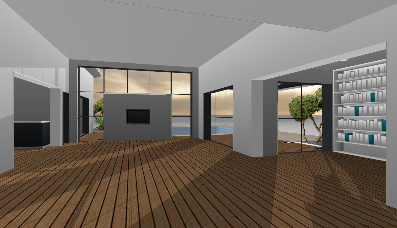 Mod les et plans de maisons mod le de plain pied loft for Modele maison geoxia