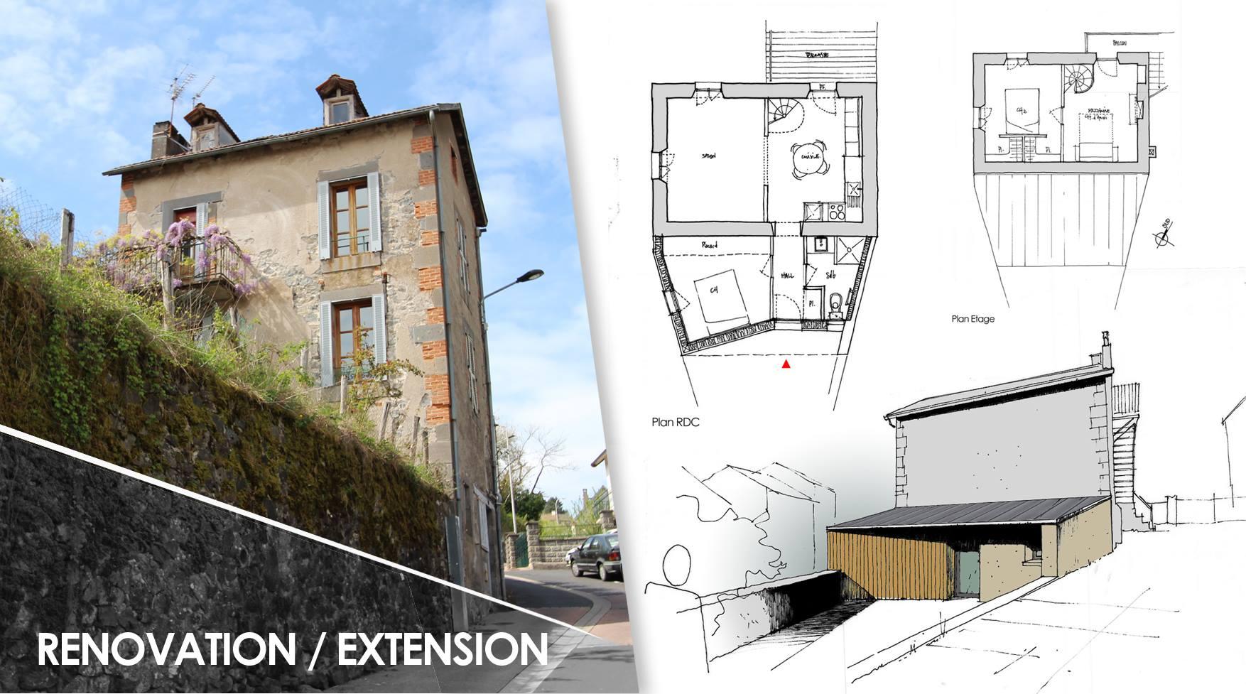 R novation et extension d 39 une maison de ville aurillac par r novert by - Renovation d une maison de ville ...