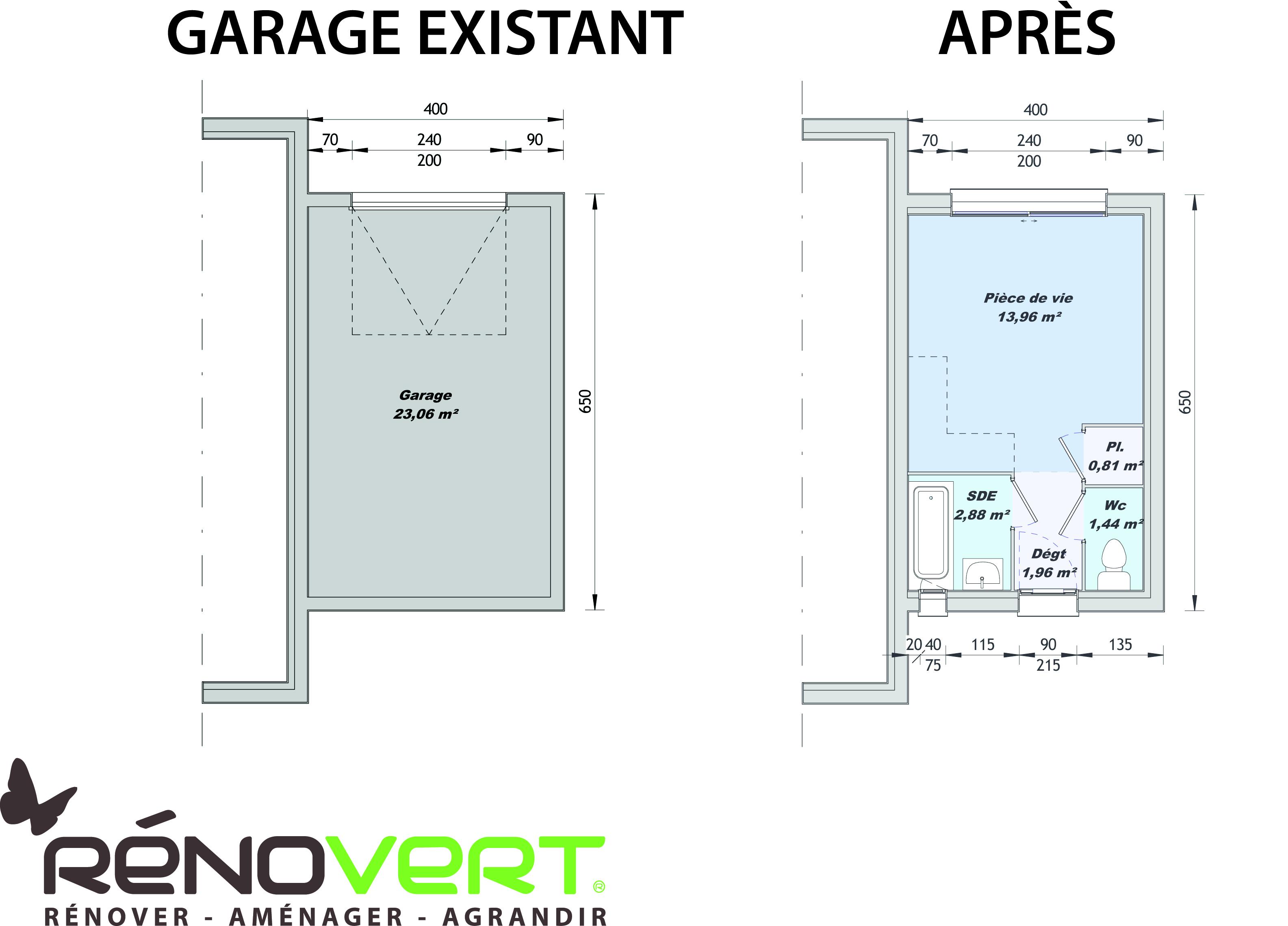 Am nager votre garage en studio ind pendant - Amenagement de garage en piece habitable ...
