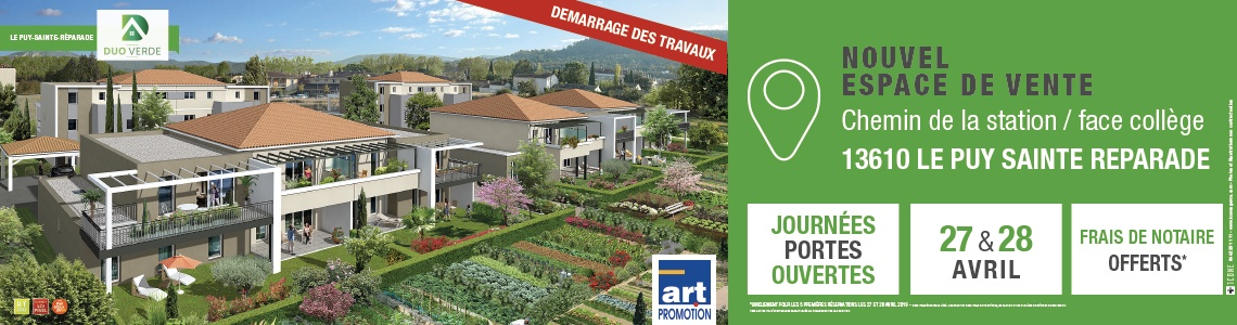 Puy sainte reparade art promotion immobilier jardin neuf