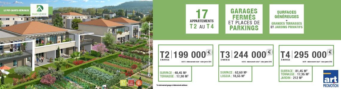 Puy sainte reparade art promotion immobilier jardin neuf