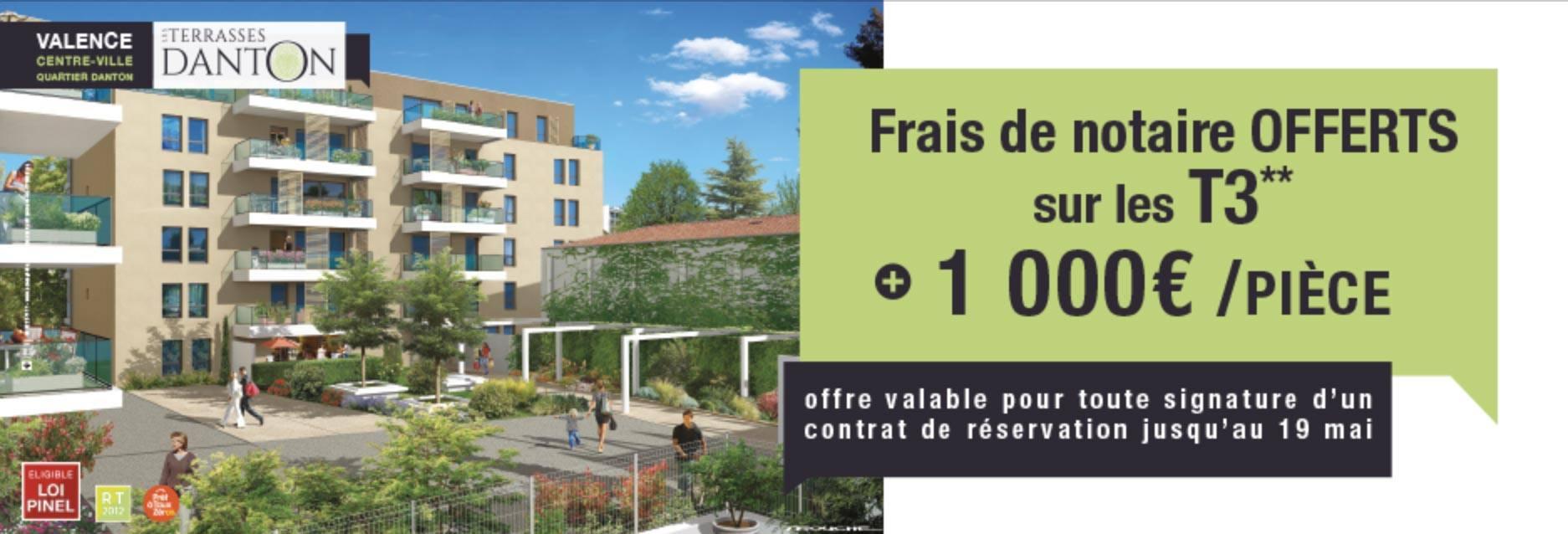 Offre Valence Terrasses Danton Art Promotion