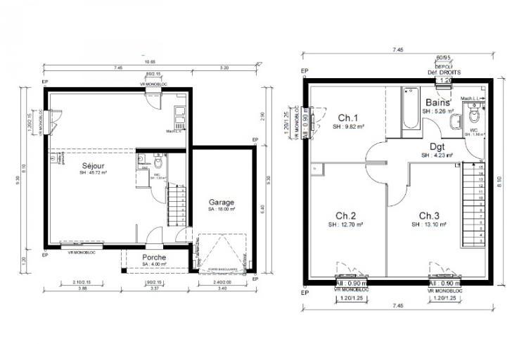 Plan de maison - CAPOEIRA