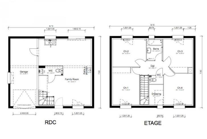 Plan de maison - REGGAE