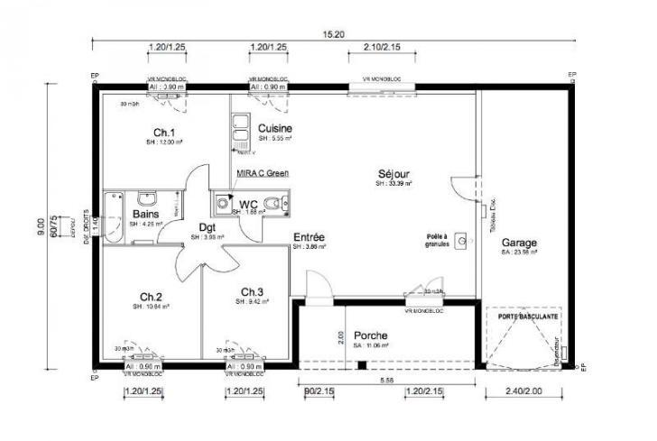 plan maison folia mod le et plan de maison folia. Black Bedroom Furniture Sets. Home Design Ideas