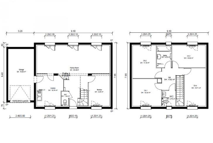 Plan de maison - BALADI - VERSION PACA