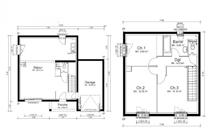 Plan de maison - CAPOEIRA - VERSION PACA