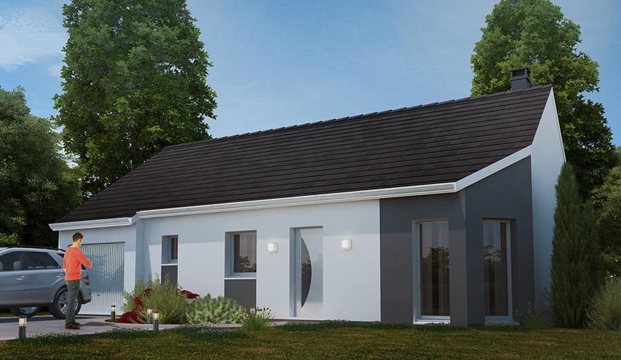 Maison + terrain à BLENNES 77940 dans la SEINE-ET-MARNE