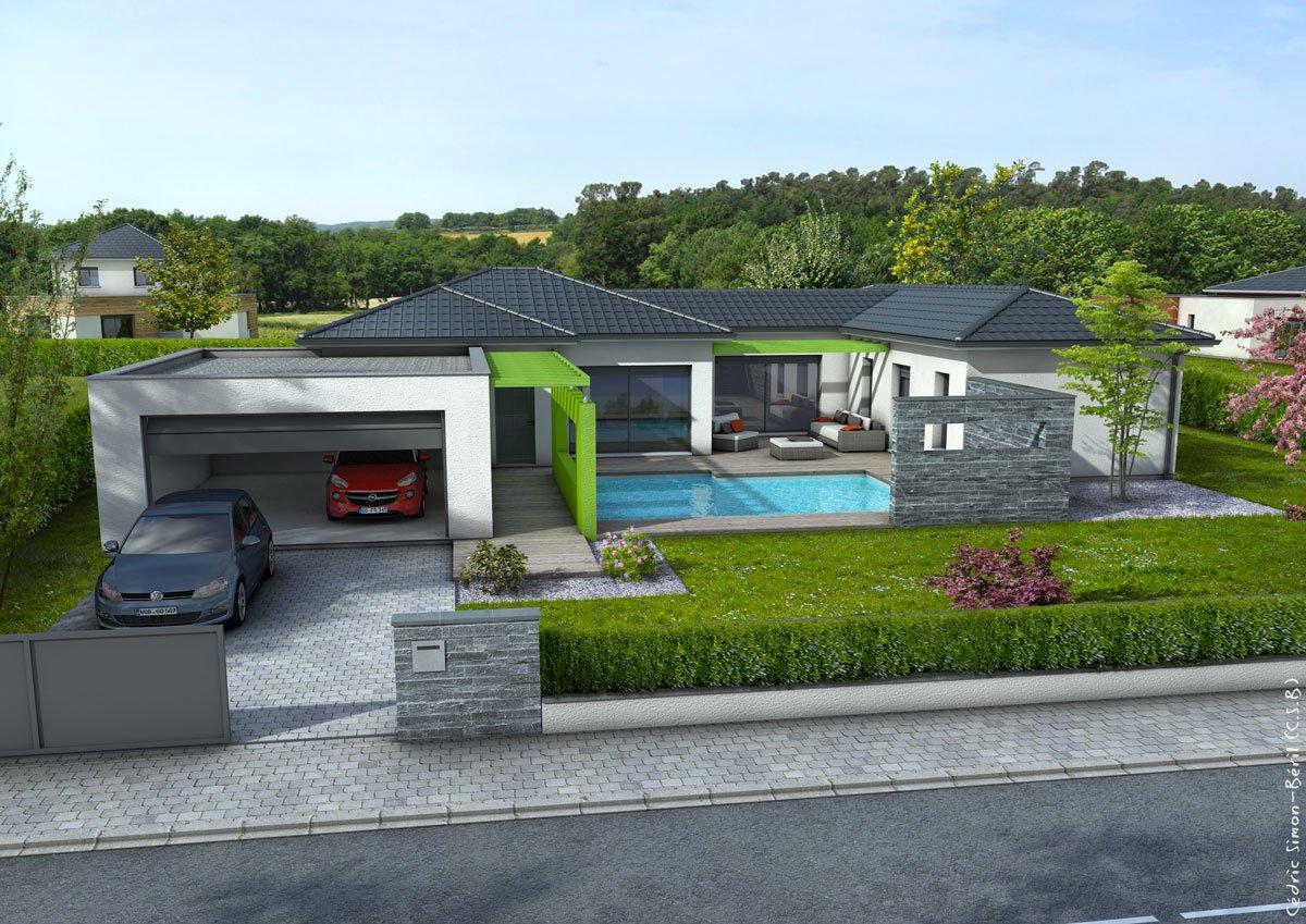 Recherche maison neuve ou maison individuelle 31 haute for Maison contemporaine 150m2