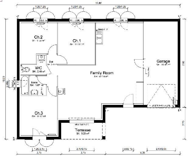 Plan de maison - MALOYA - VERSION PACA