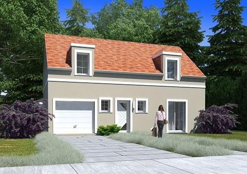 Maison + terrain à HARDRICOURT 78250 dans les YVELINES