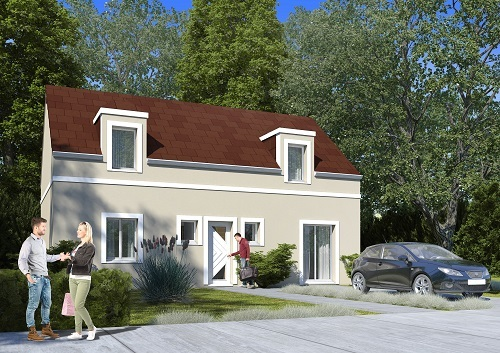 Maison + terrain à CHAUMONT-EN-VEXIN (60240) dans l'OISE