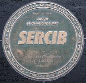 Sceau signature Sercib sur immeuble Renaissance