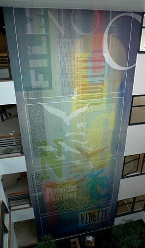 Fresque Cine Del Duca par Atelier LAPS - immeuble 8-12 sur Parc