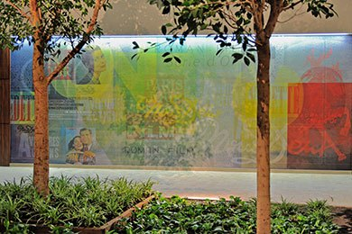 La fresque des bureaux 8-12 sur Parc à Maisons-Alfort