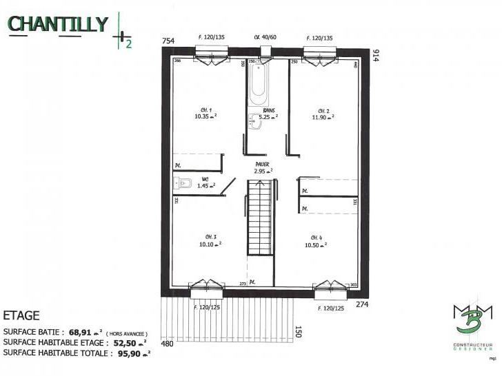 PLAN CHANTILLY 2 ETAGE
