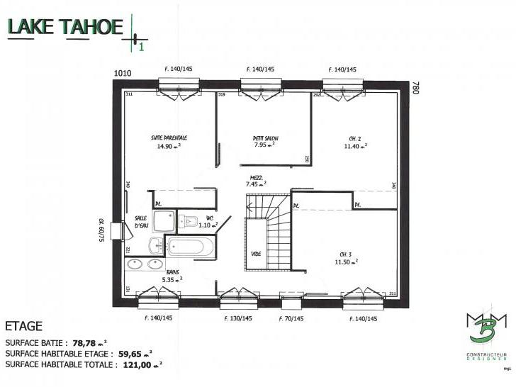 PLAN LAKE TAHOE ETAGE