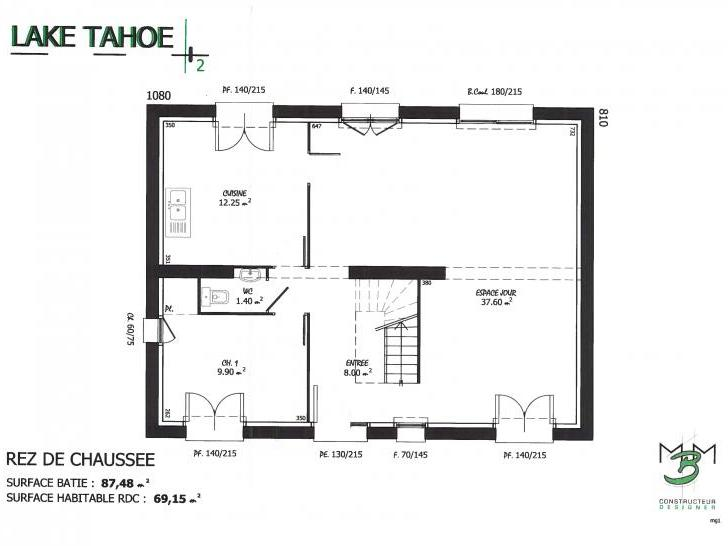 PLAN LAKE T TAHOE 2 RDC