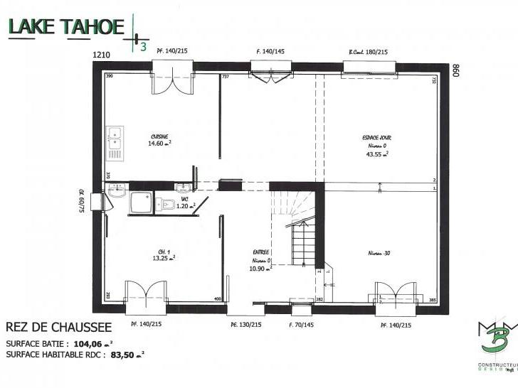 PLAN LAKE TAHOE 3 RDC