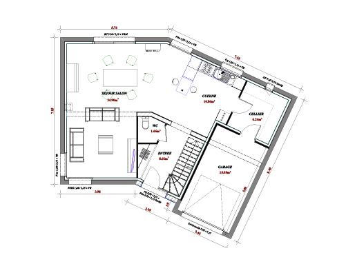 Terrain et maison à construire Orchies 137m²