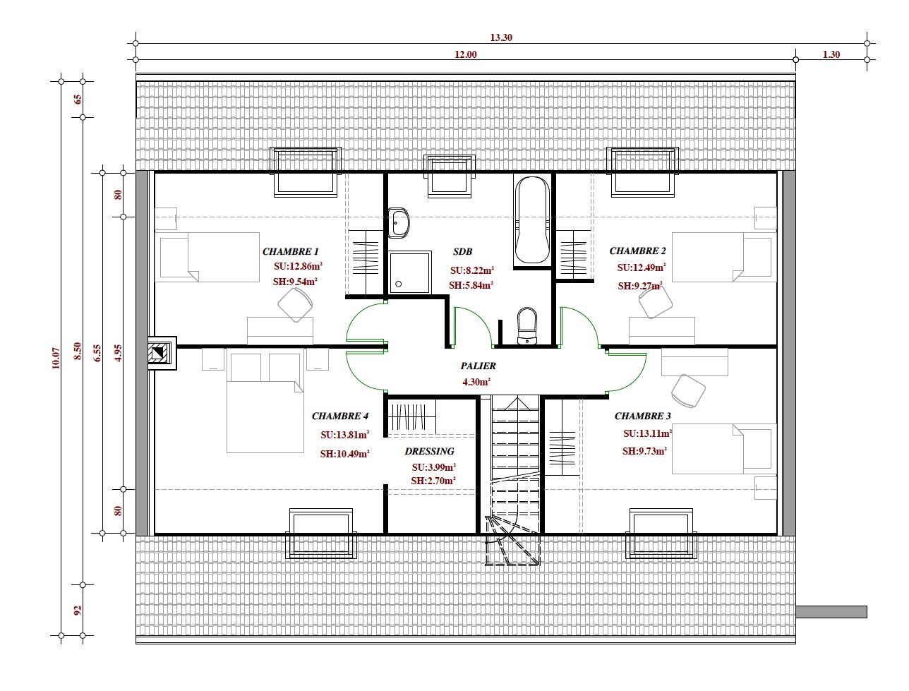 Terrain et maison à construire Chéreng 159m²
