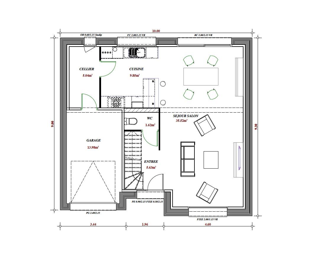 Terrain et maison construire onnaing 108m for Maison terrain a construire
