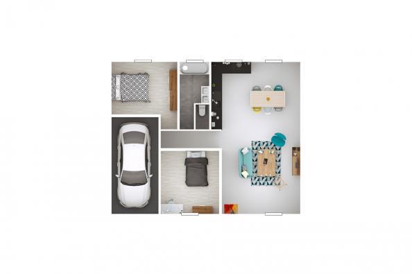 Maison LAMBADA - La Bâtie-Divisin (38490)