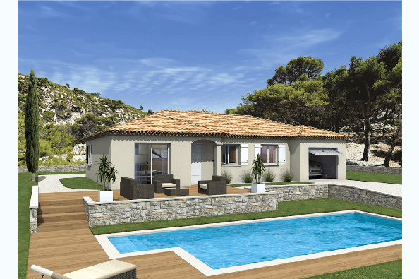 Maison MILONGA EN U - VERSION PACA - Rochefort-du-Gard (30650)