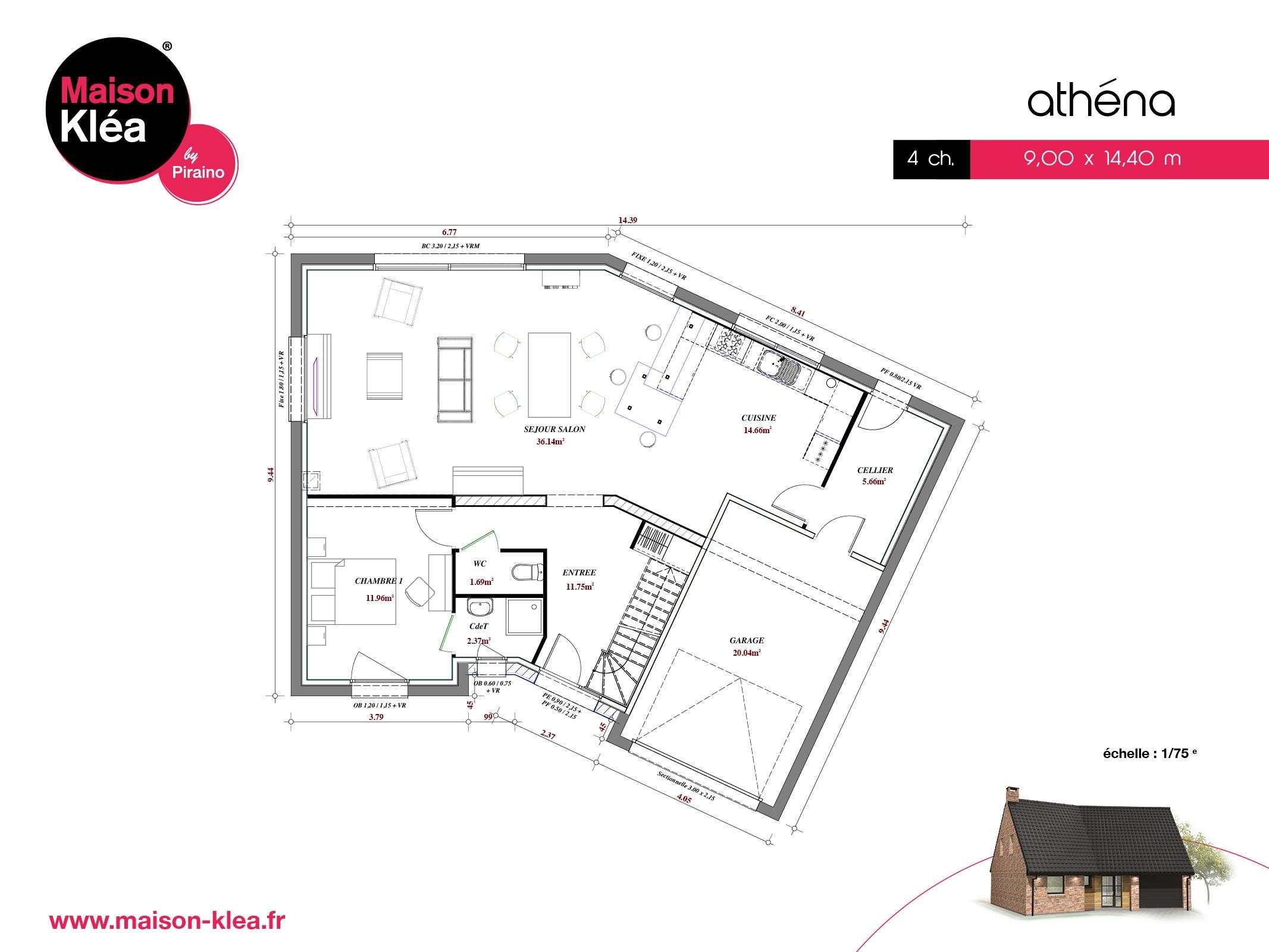 Terrain et maison à construire Attiches 144.31m²