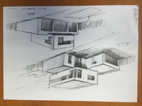 Crayonné réalisé à la main Maisons Home Conception