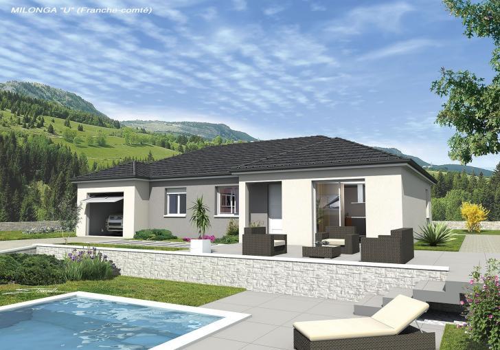 Plan de maison - MILONGA EN U - VERSION FRANCHE-COMTE