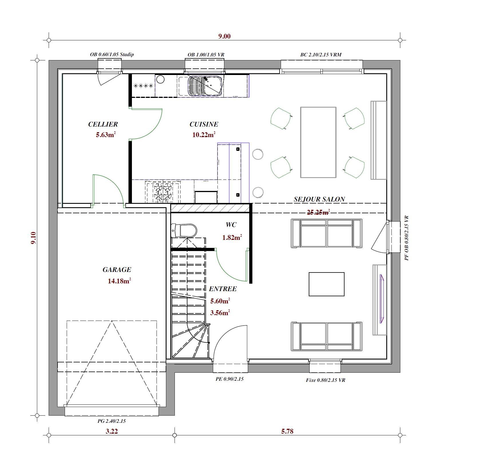 Terrain et maison à construire Houplin-Ancoisne 85m²