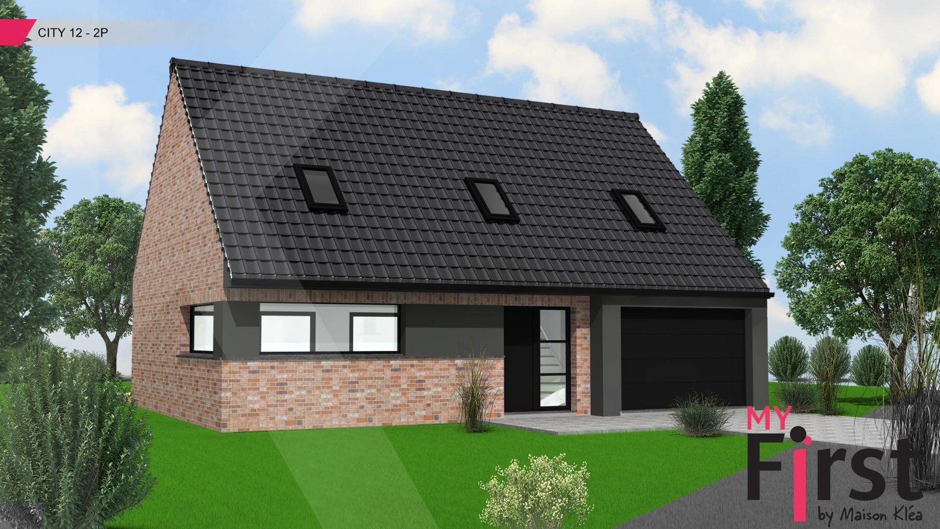 Terrain et maison à construire Faumont 119m²