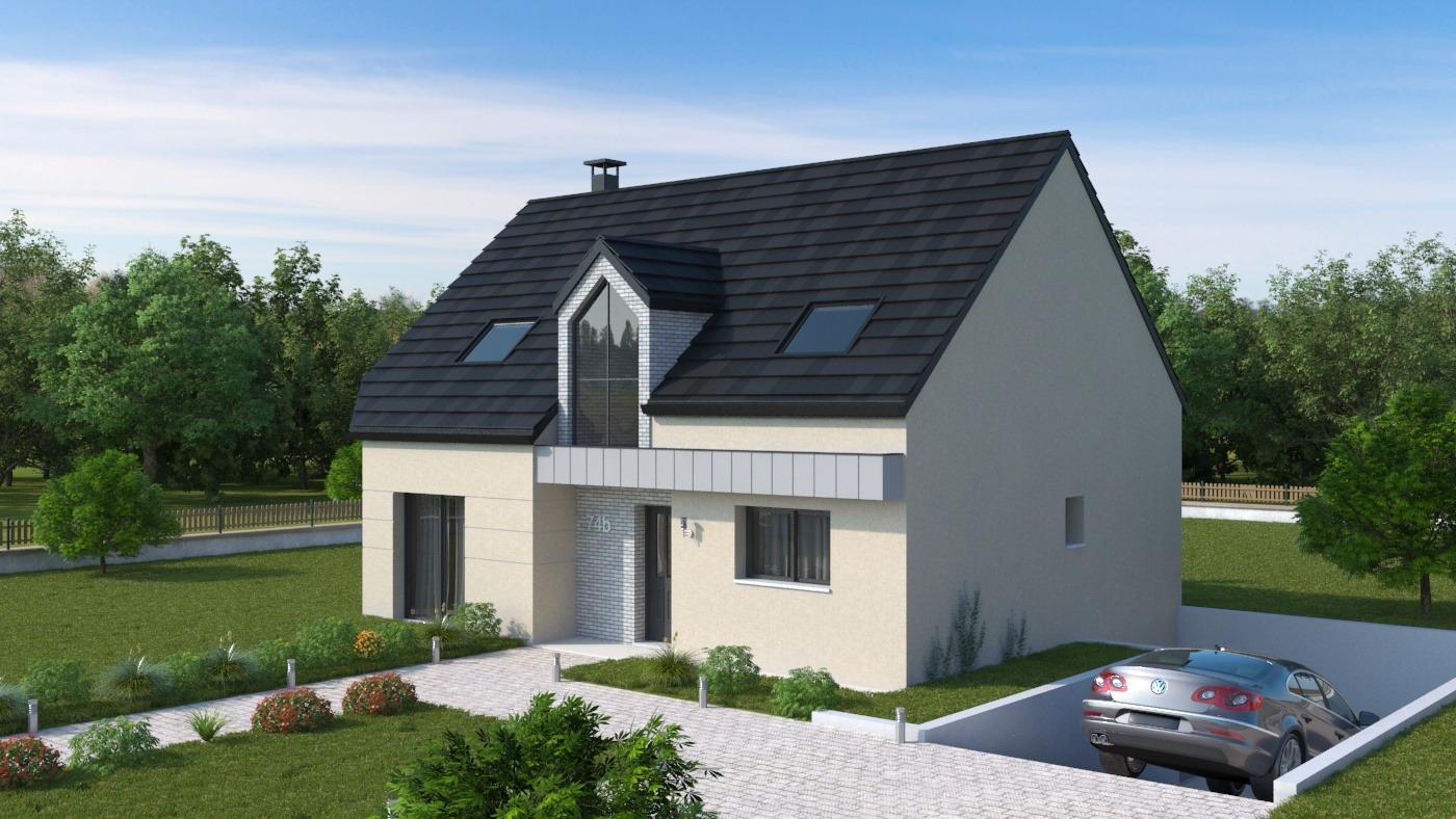 Maison + terrain à LE PLESSIS-BELLEVILLE 60330 dans l'OISE