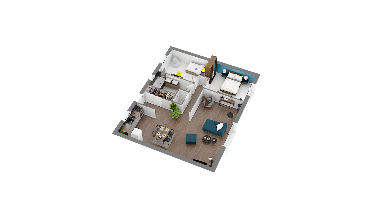 Construction d'une maison Grandvilliers (60210) 154 350 €