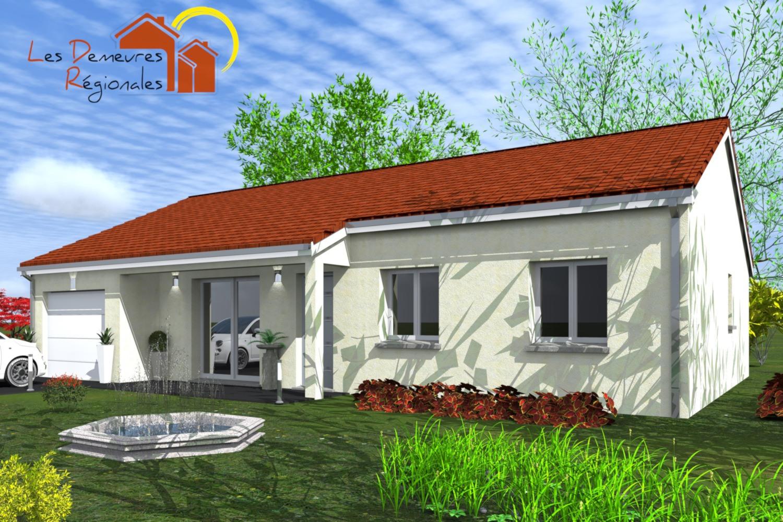 vue avant maison droite 3 chambres et garage clermont ferrand