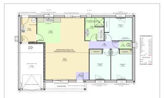 plan maison droite 3 chambres et garage clermont ferrand