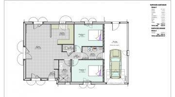 plan maison 2 chambres clermont ferrand