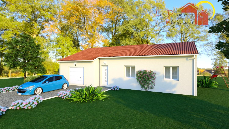 vue extérieure maison avec décroché 3 chambres et garage clermont ferrand