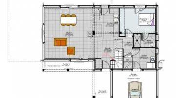 pland RDC maison contemporaine étage clermont ferrand