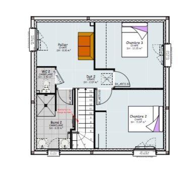 plan étage maison contemporaine étage clermont ferrand