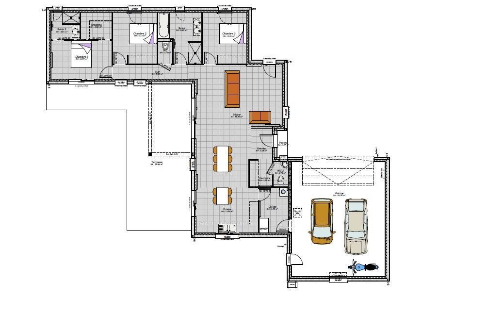 Plan maison contemporaine Vichy